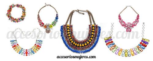 collares grandes mujeres moda colores